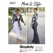8655 Simplicity Pattern: High Waisted Slim or Bell Trousers and Top